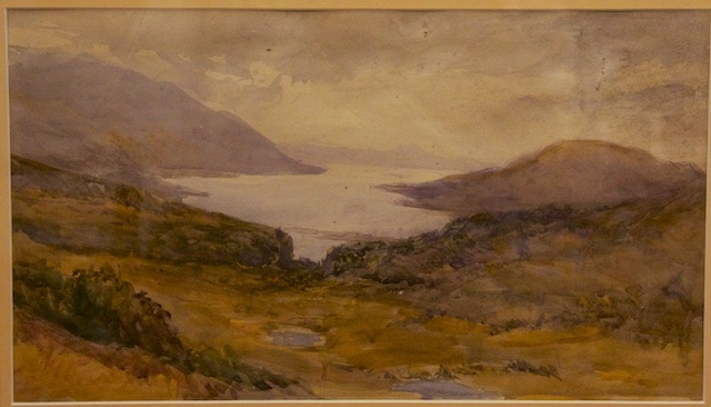 Oil painting c1850 by  Louisa Shore Nightingale.
