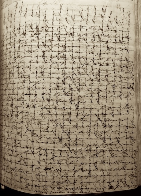 Cross hatched letter; Ellen Hutchins to Dawson Turner 15 Sept 1812. Image Courtesy of The Masters and Fellows of Trinity College Cambridge