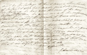 Ellen to Emanuel 16 April 1807. Image courtesy of Hutchins family.