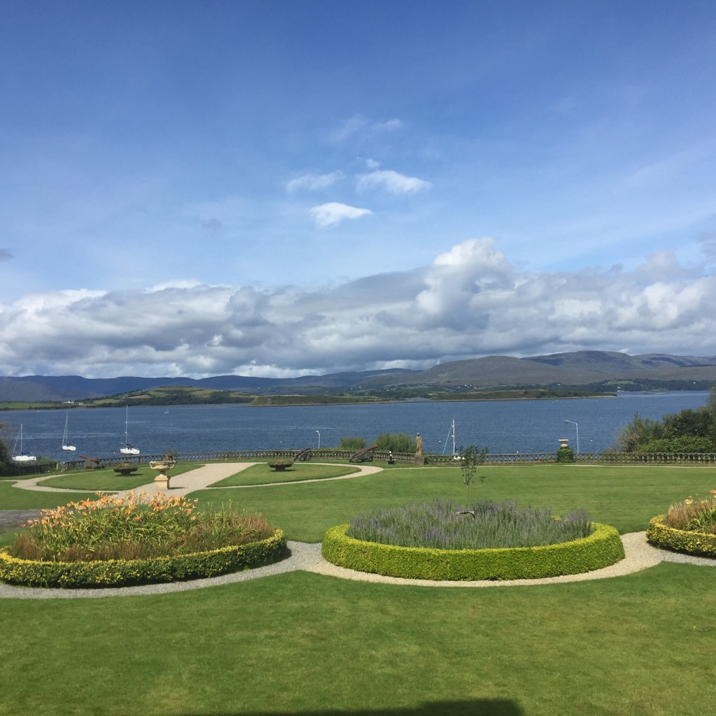 Bantry House Gardens overlooking Bantry Bay