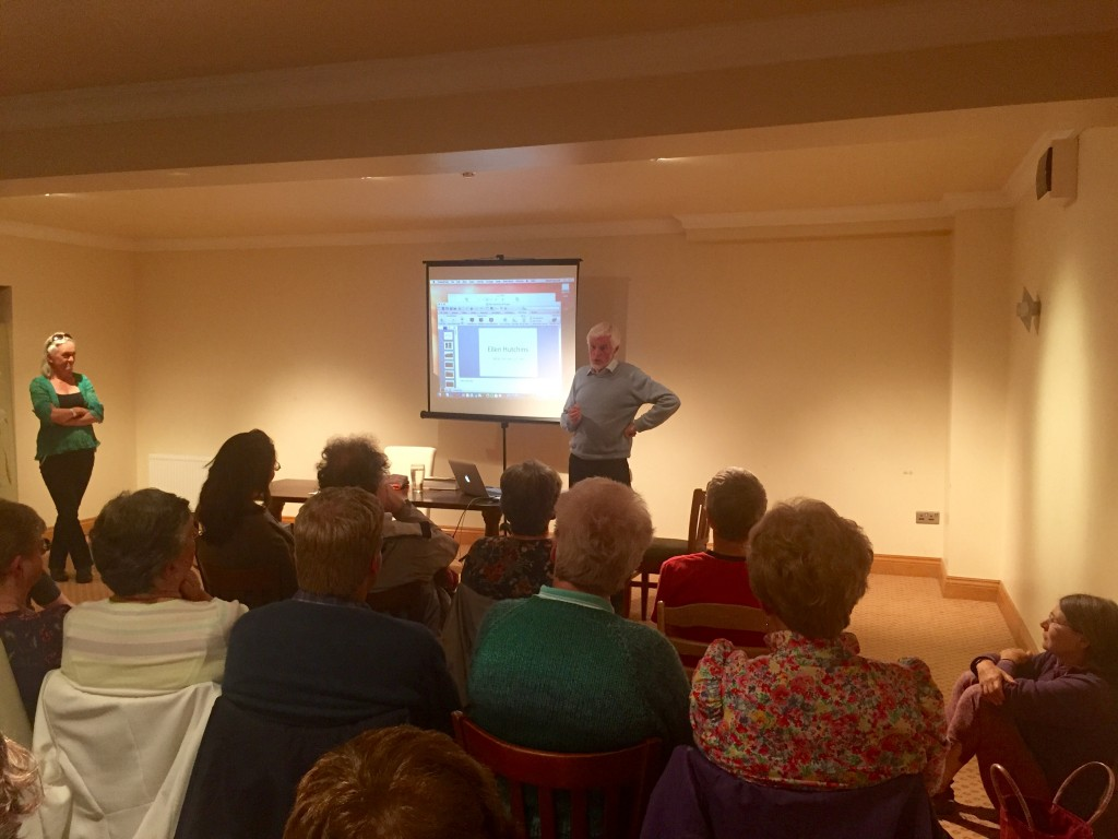 Donal Synot giving his talk on Ellen Hutchins achievements at the Glengarriff Park Hotel