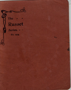 Russet notebook cover