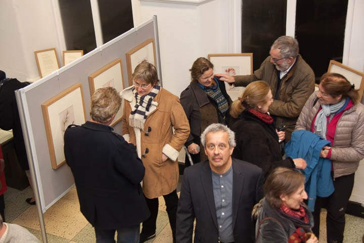 The Opening of the Celebrating Ellen Hutchins exhibition, Trinity, 9th February 2017