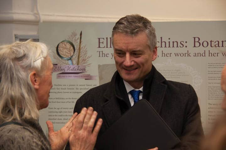 Provost Patrick Prendergast at the Ellen Hutchins exhibiton opening, Trinity, 9th February 2017