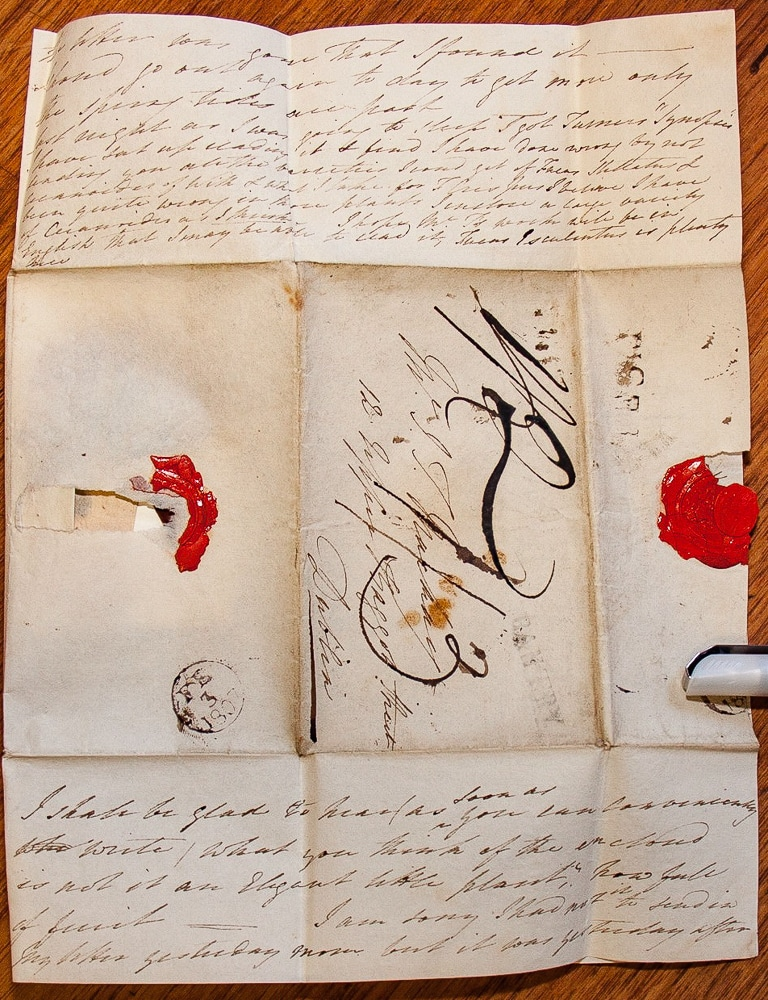 Letter: Ellen Hutchins to James Mackay, 1st February 1807, second side. Image courtesy of the Herbarium, Botany Department, Trinity College Dublin.